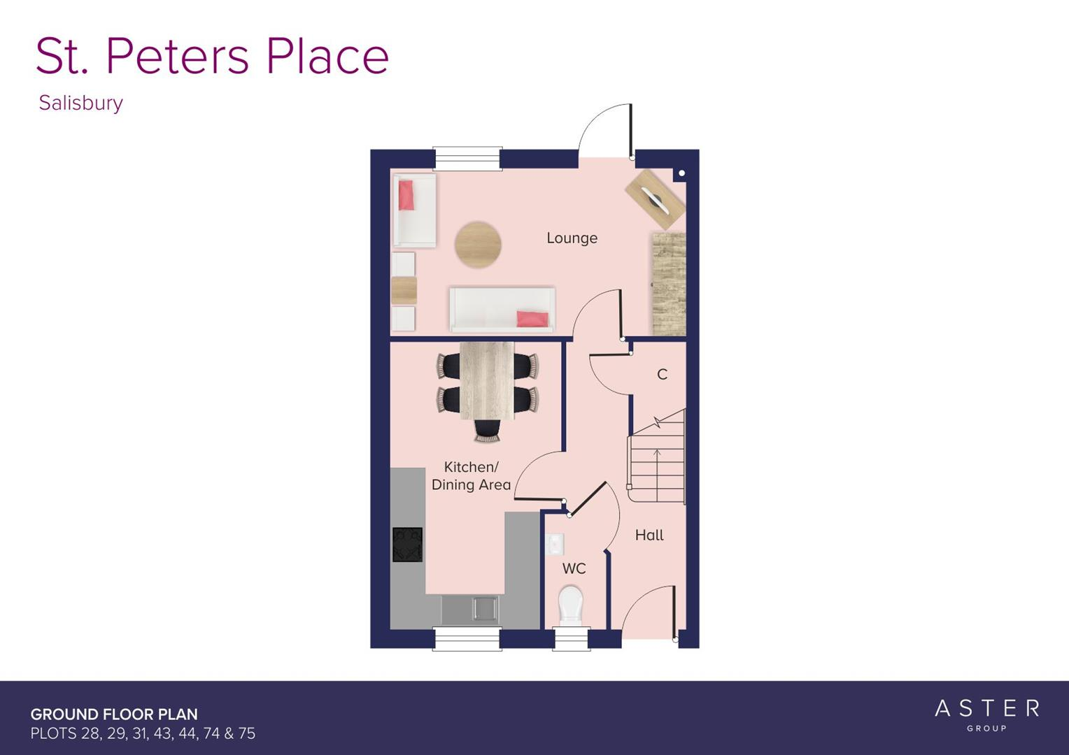St. Peters Place, Salisbury_Plots 28, 29, 31, 43,